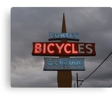 Vintage Bicycle Neon Sign  Canvas Print