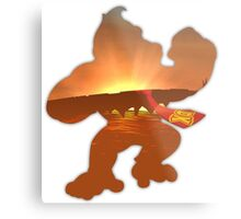 Donkey Kong Sunrise Metal Print