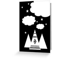 Tepee Cloud Greeting Card