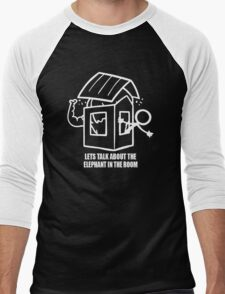 Let's Talk About The Elephant In The Room Men's Baseball ¾ T-Shirt