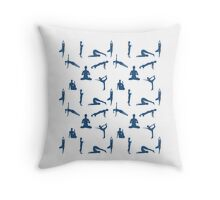 Yoga Positions Pattern Throw Pillow