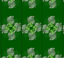 Green Abstract  pattern  (2989 Views) by aldona