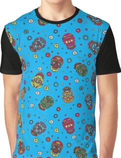 Bright mexican floral skull Graphic T-Shirt