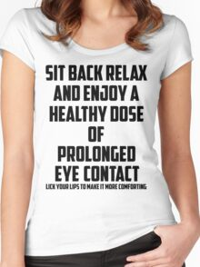 Bo Burnham - Prolonged Eye Contact Women's Fitted Scoop T-Shirt