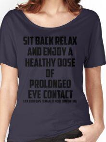 Bo Burnham - Prolonged Eye Contact Women's Relaxed Fit T-Shirt