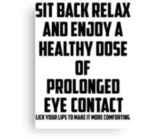 Bo Burnham - Prolonged Eye Contact Canvas Print