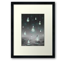 Shine From Within (Shine Bright Series) • Mint Glow Framed Print