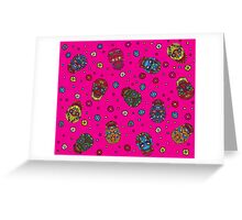 Bright mexican floral skull. Day of the dead seamless pattern. Trendy style Greeting Card