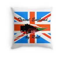 Travel England by Rail Throw Pillow