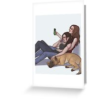 Some Shoot & Bear down time Greeting Card