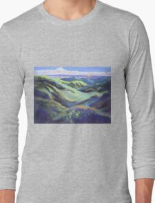 View from the Rooftop St Bernards Tamborine In Pastel  Long Sleeve T-Shirt