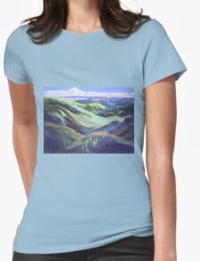 View from the Rooftop St Bernards Tamborine In Pastel  Womens Fitted T-Shirt