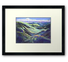 View from the Rooftop St Bernards Tamborine In Pastel  Framed Print