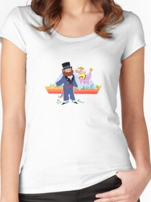 dreamfinder and figment Women's Fitted Scoop T-Shirt