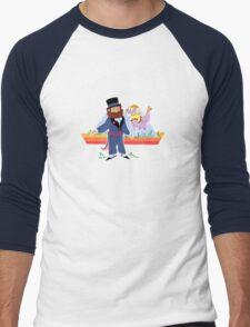 dreamfinder and figment Men's Baseball ¾ T-Shirt