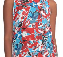 Patchwork bright pattern. Urban bright style  Contrast Tank