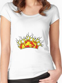 Feuer flammen krone  Women's Fitted Scoop T-Shirt