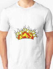 Feuer flammen krone  Unisex T-Shirt