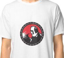 Welder Arc Welding Circle Retro Classic T-Shirt