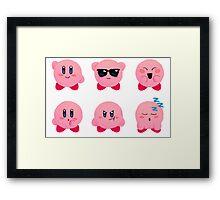 kirby emojis Framed Print