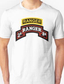 2nd Ranger +tab T-Shirt