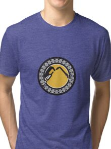 Welding Torch Caliper Ball Bearing Circle Retro Tri-blend T-Shirt