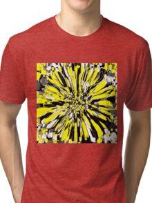 Dahlia Yellow and Black Tri-blend T-Shirt