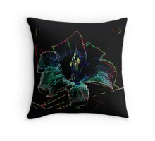 Daylilie Neon Throw Pillow