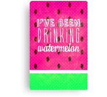 Drinking Watermelon Canvas Print