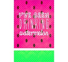 Drinking Watermelon Photographic Print