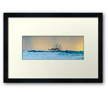Fishing Trawler at Honeymoon Bay, Moreton Island, Australia Framed Print