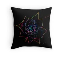 Rose Neon Throw Pillow