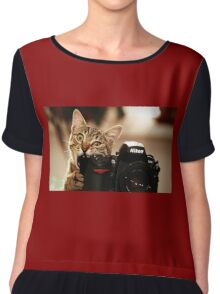 Cat Photographer Chiffon Top