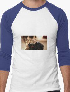 Cat Photographer Men's Baseball ¾ T-Shirt