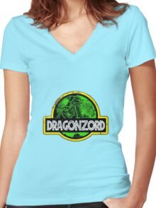 DragonZord  Women's Fitted V-Neck T-Shirt
