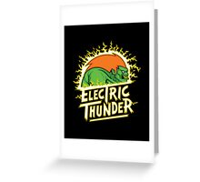electric thunder Greeting Card