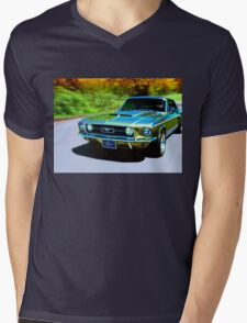 1967 Ford Mustang Mens V-Neck T-Shirt