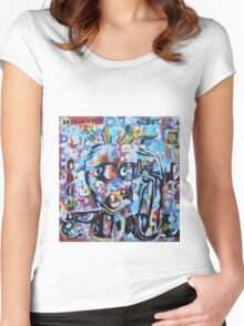 DISLOCATED,  but  still COOL (My head exploded) Women's Fitted Scoop T-Shirt