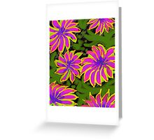 Bold Flowers   Greeting Card
