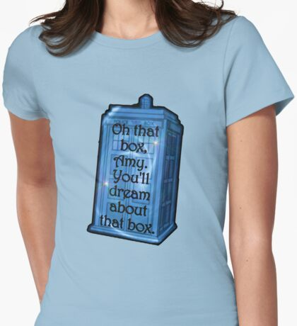 Doctor Who -TARDIS Dream Quote Womens Fitted T-Shirt