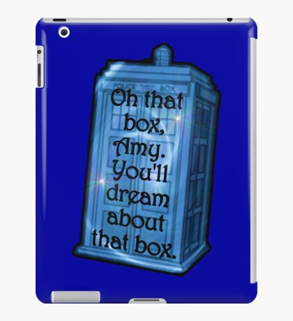 Doctor Who -TARDIS Dream Quote iPad Case/Skin