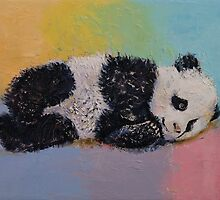 Baby Panda Rainbow by Michael Creese