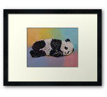 Baby Panda Rainbow Framed Print