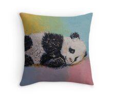 Baby Panda Rainbow Throw Pillow