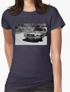1967 Ford Mustang B/W  Womens Fitted T-Shirt