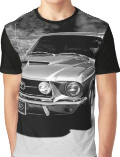 1967 Ford Mustang B/W  Graphic T-Shirt