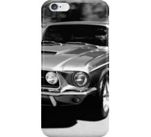 1967 Ford Mustang B/W  iPhone Case/Skin