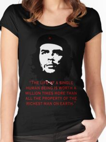 Che Guevara Quote Women's Fitted Scoop T-Shirt