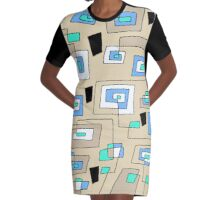 Maze Abstract   Graphic T-Shirt Dress
