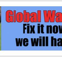 Global Warming Sticker